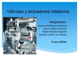 Válvulas y actuadores rotatorios -