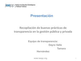 Presentación de Diseño metodológico