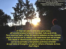 34 domingo -A- Jesús Rey del Uiverso