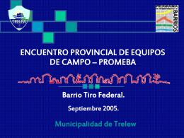 TALLER DE EVALUACIÓN – PROMEBA Barrio Tiro Federal