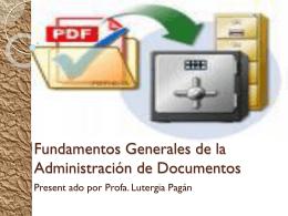 Fundamentos Generales de la Administración de