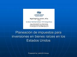 Estructura de impuestos según entidad FIRPTA
