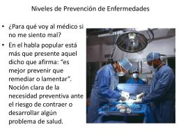 Niveles de Prevención de Enfermedades