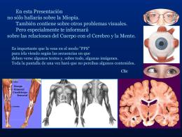 La Miopía - Origen y Superación