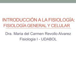 Introducción a la fisiología: fisiología general y