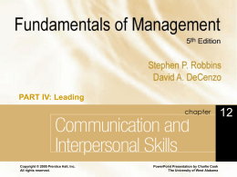 Fundamentals of Management 5e.
