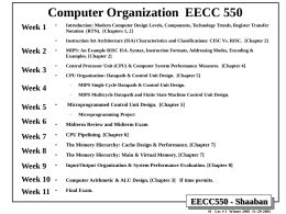 CE550 - Rochester Institute of Technology
