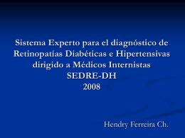 Sistema Experto para el diagnóstico de
