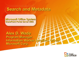 Metadata and Search - DCMI Home: Dublin Core®