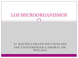 LOS MICROORGANISMOS - Universidad Laboral de