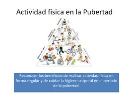 Actividad física en la Pubertad