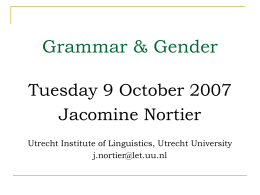 Gender in de grammatica