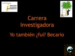 Carrera Investigadora en España
