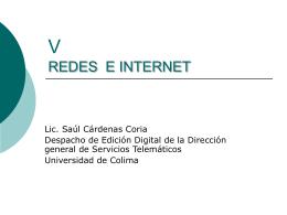V REDES E INTERNET