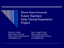 Future Teachers Early Clinical Experience Project