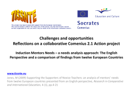 Reflections on a collaborative Comenius 2.1 Action