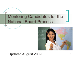 Mentoring Candidates for the National Board