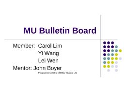 MU Bulletin Board