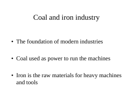 Coal and iron industry
