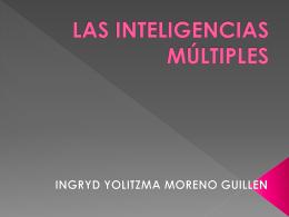 LAS INTELIGENCIAS MÚLTIPLES