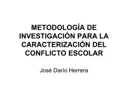 METODOLOGÍA DE INVESTIGACIÓN PARA LA