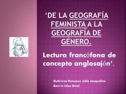 De la geografía feminista a la Geografía de Género