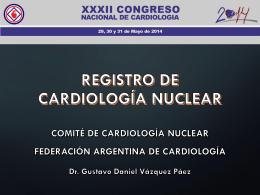 Registro de Cardiología Nuclear