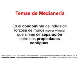 Temas de Medianería