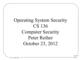 Introduction CS 239 Security for Networks and