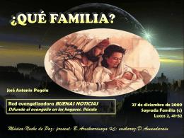 ¿Qué familia? -Texto: PAGOLA