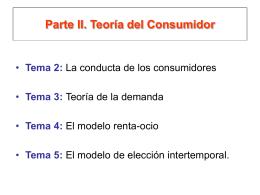 Parte I. Teoría del Consumidor