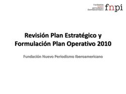 Revisión Plan Estratégico y Formulación Plan