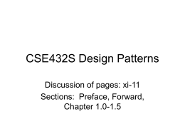 CSE432S Design Patterns - Washington University in
