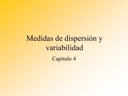 Medidas de dispersión y variabilidad