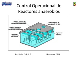 Control Operacional de Reactores anaeróbios