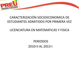 CARACTERIZACIÓN SOCIOECONOMICA DE ESTUDIANTES