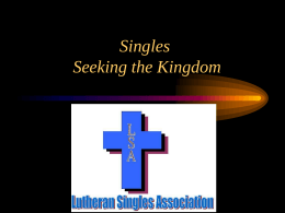 Single's Seeking the Kingdom