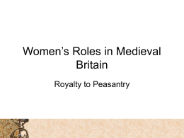 Women's Roles in Medieval Europe