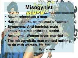 Misogynist Jason Van De Weghe