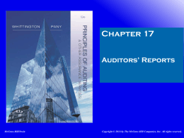 Auditors` Reports - Walla Walla University