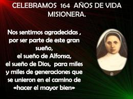 FESTEJANDO 164 AÑOS DE VIDA MISIONERA