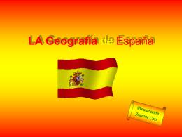 LA Geografía de España