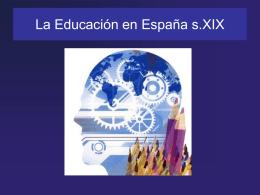 La Educación en España s.XIX