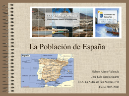 La población de España