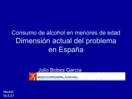 Consumo de alcohol en menores de edad Dimensión