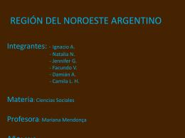 REGIÓN DEL NOROESTE ARGENTINO