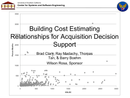 Building Cost Estimating Relationships for