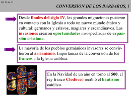 CONVERSION DE LOS BARBAROS, 1