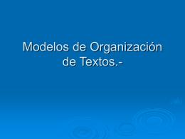 Modelos de Organización de Textos.-