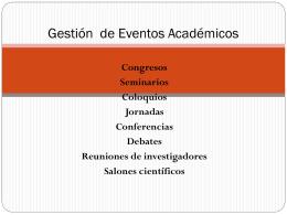 Eventos Académicos - Universidad de la República